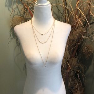 Lulu's Sparkle and Charm Gold Layered Necklace